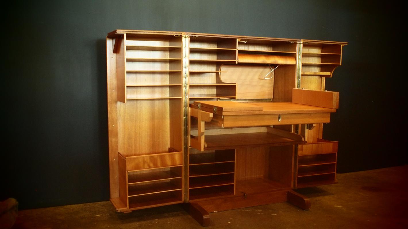 Folding Desk + File Cabinet