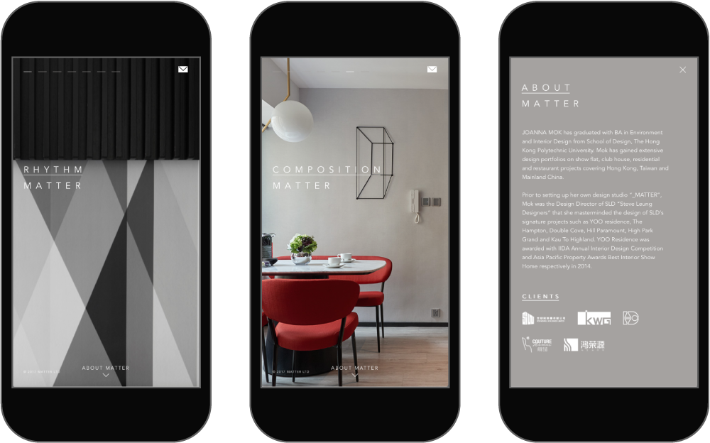 The Official Website Of An Interior Design Company In Hong Kong, The  Website Showcases Their Design Philosophies From Their Beautiful Projects.